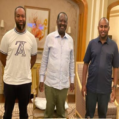 """""""Baba Is Doing Well"""" Says Joho and Junet as they hold talks with ODM Leader Raila Odinga in Dubai"""