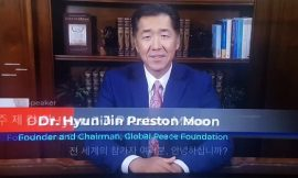 Hyun Jin Preston Moon calls for Korean-led Re-Unification process in the Peninsula