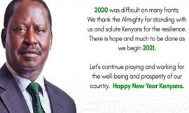Raila Odinga's New Year Message to Kenyans