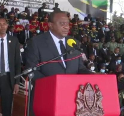 "Uhuru Kenyatta urges new Tanzanian President Samia to emulate Magufuli's ""Hapa Kazi Tu"""