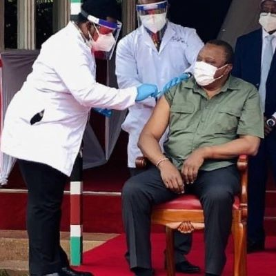 President Kenyatta and First Lady receive Covid-19 Vaccine